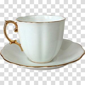 Coffee cup Saucer Teacup Mug, white cup PNG