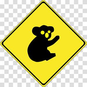 Traffic sign Pedestrian crossing Warning sign Road, koala PNG