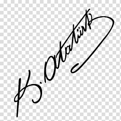 Paper Signature Writing Wall , mustafa kemal PNG