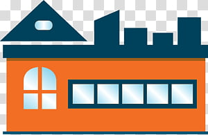Building Factory, Hand painted factory warehouse PNG clipart