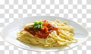 Spaghetti alla puttanesca Spaghetti aglio e olio Al dente Pasta al pomodoro, chicken plate PNG clipart