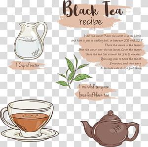 Earl Grey tea Coffee cup Menu, tea menu PNG