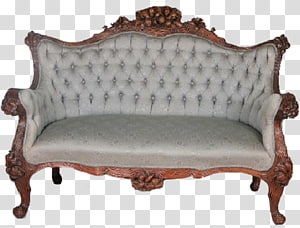 Loveseat Table Couch Antique furniture, table PNG