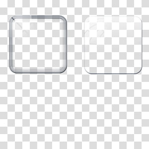 two square clear glass boards , Square White Area, Square glass PNG clipart