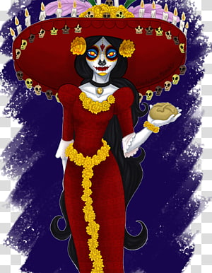 La Calavera Catrina Digital art Drawing Illustration, catrina PNG clipart