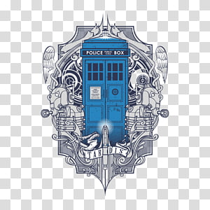 The Doctor T-shirt TARDIS Tenth Doctor Jelly Babies, doctor who police box PNG