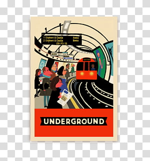 L is for London London Underground Elephant & Castle tube station Illustrator Book, others PNG clipart