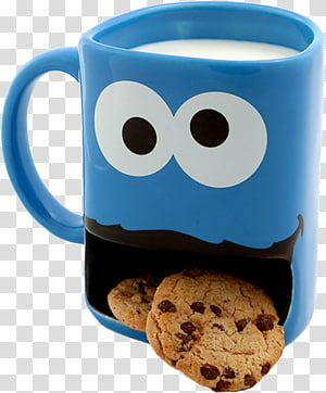 Cookie Monster Elmo Oscar the Grouch Mug Dunking, mug PNG clipart