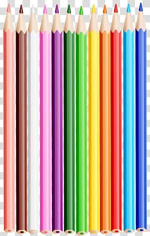 Colored pencil , pencil PNG clipart