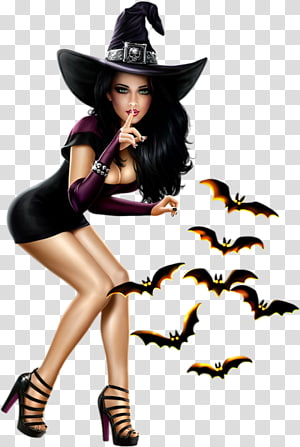 witch Halloween Woman Digital art Portable Network Graphics, kisekae witch PNG