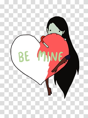 Marceline the Vampire Queen Finn the Human Jake the Dog Princess Bubblegum Valentine\'s Day, be mine PNG