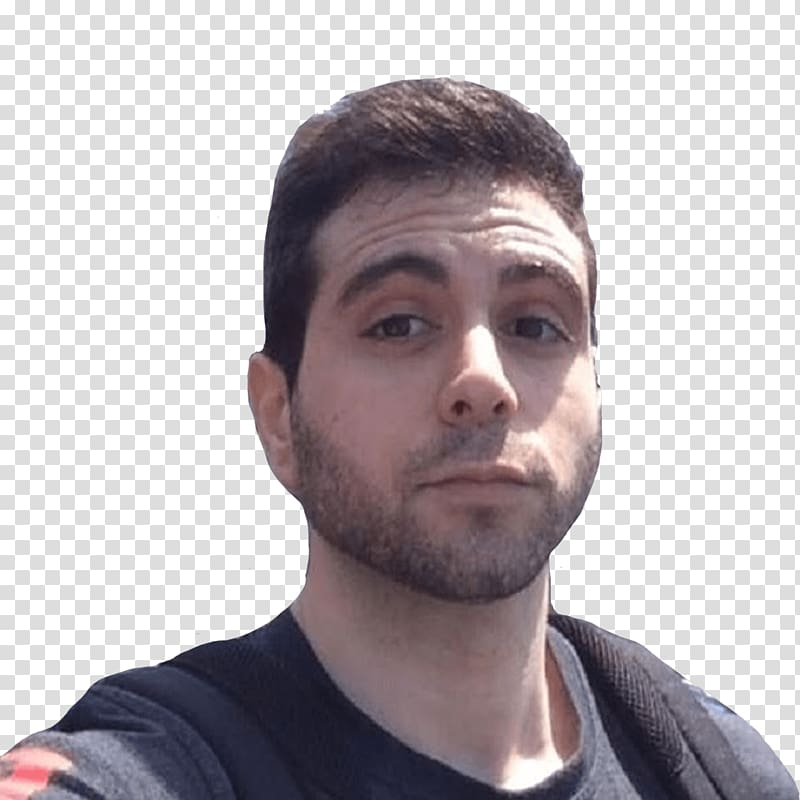 man in black crew-neck shirt and black backpack, Vegetta777 Close Up PNG