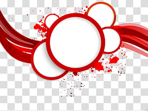 red circular border PNG clipart