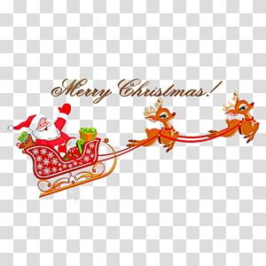 santa's sleigh PNG clipart