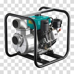Hardware Pumps Diesel engine Irrigation Gasoline, water pump PNG clipart