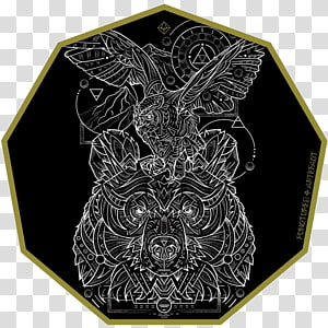 Sacred geometry Flash, Great Horned Owl PNG clipart
