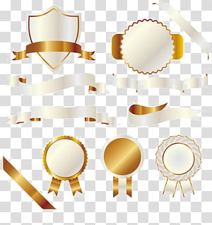 gold banner box PNG clipart