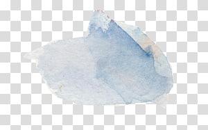 blue watercolor effect PNG