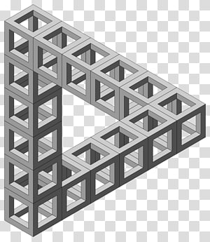 Penrose triangle Optical illusion Impossible object , triangulo PNG clipart
