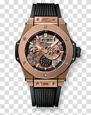 Hublot Watch Gold Power reserve indicator Movement, rx king PNG
