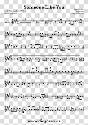 Saxophone Sheet Music Violin Someone like You Musical note, Saxophone PNG clipart