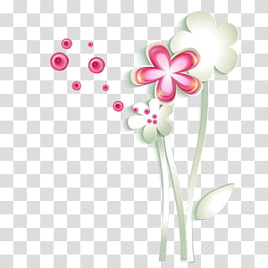 Euclidean Adobe Illustrator, Creative paper-cut flowers PNG