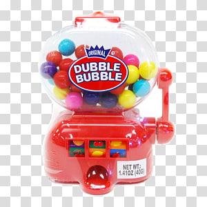 Chewing gum Jelly bean Cotton candy Dubble Bubble Bubble gum, gumball machine PNG