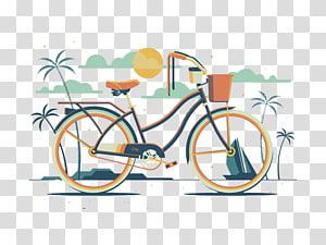 Bicycle wheel Motion Illustration, Ms. bike PNG