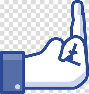 middle finger , T-shirt The finger Facebook Middle finger Like button, vote PNG clipart