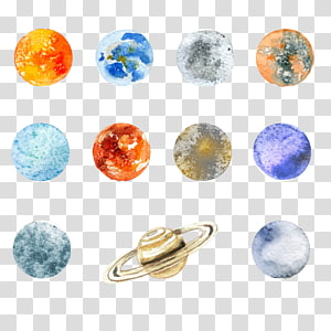 Solar System planets stickers, The Nine Planets Poster, planet PNG clipart