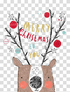 Christmas card Greeting & Note Cards New Year\'s Day Illustration, Christmas elk PNG clipart