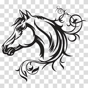 Decal American Quarter Horse graphics Illustration Horse head mask, horse head PNG clipart