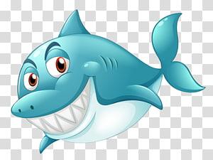 Great white shark Illustration, Blue shark PNG clipart