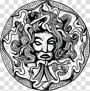 Medusa Gorgoneion Greek mythology Monster, amulet PNG