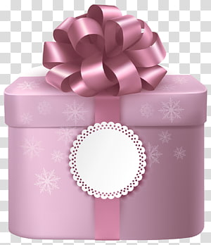 pink box illustration, Gift Pink Box , Cute Pink Gifts Box with Pink Bow PNG clipart