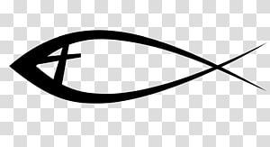 black fish , Ichthys Christianity Bible Christian cross Symbol, fishing pole PNG clipart