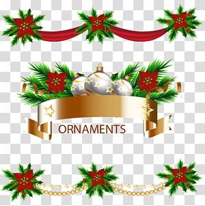 Christmas , Holiday decorative ribbons PNG clipart