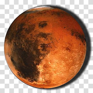 brown and black planet illustration, Earth Mars Terrestrial planet Solar System, Mars PNG clipart