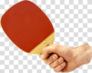 Table tennis racket, Ping Pong racket in hand PNG