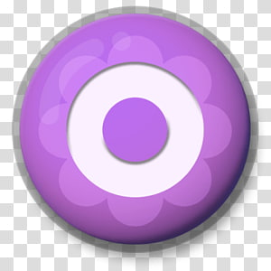 round purple and white illustration, Letter O Roundlet PNG