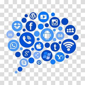 Social media marketing Digital marketing Digital media, social media PNG