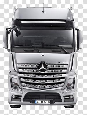 silver Mercedes-Benz truck, Mercedes-Benz Actros Car Mercedes-Benz short bonnet trucks Mercedes-Benz Vito, Mercedes Truck PNG