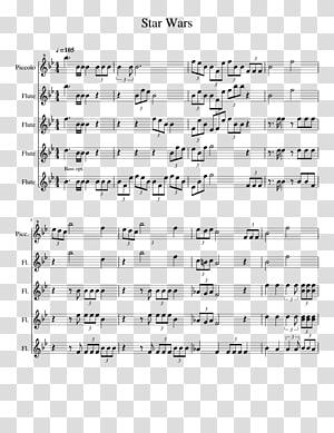 Sheet Music Flute choir Star Wars, sheet music PNG clipart