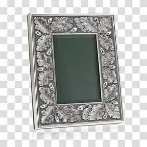 Frames Silver Oak Buccellati Acorn, silver PNG