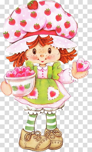 Strawberry Shortcake Paper doll, strawberry PNG clipart