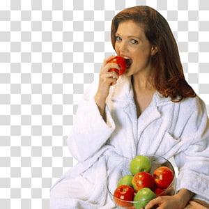woman eating fruit PNG