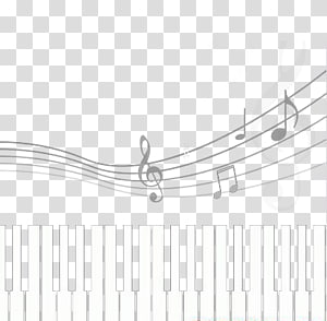 black and white keys on the piano music PNG