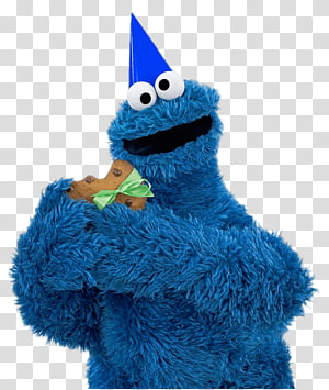 Cookie Monster from Sesame Street, Sesame Street Cookie Monster Party PNG