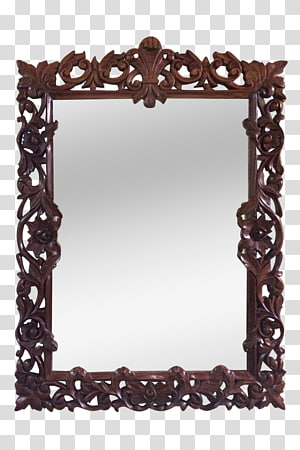 Frames Rectangle , carved wood vases PNG clipart