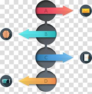 arrow illustration, Creative PPT element PNG clipart